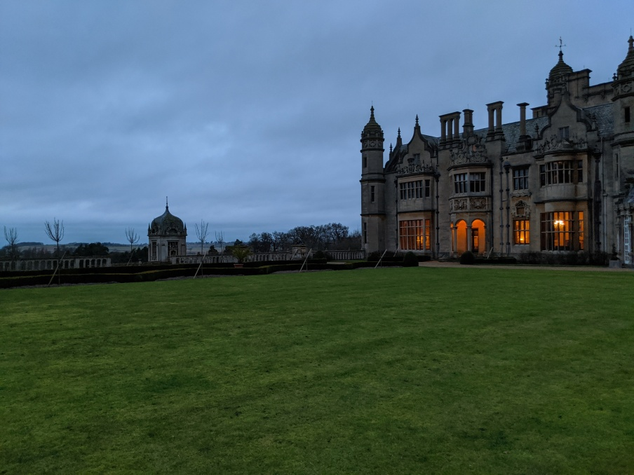 Harlaxton Manor (our room on the second floor here)